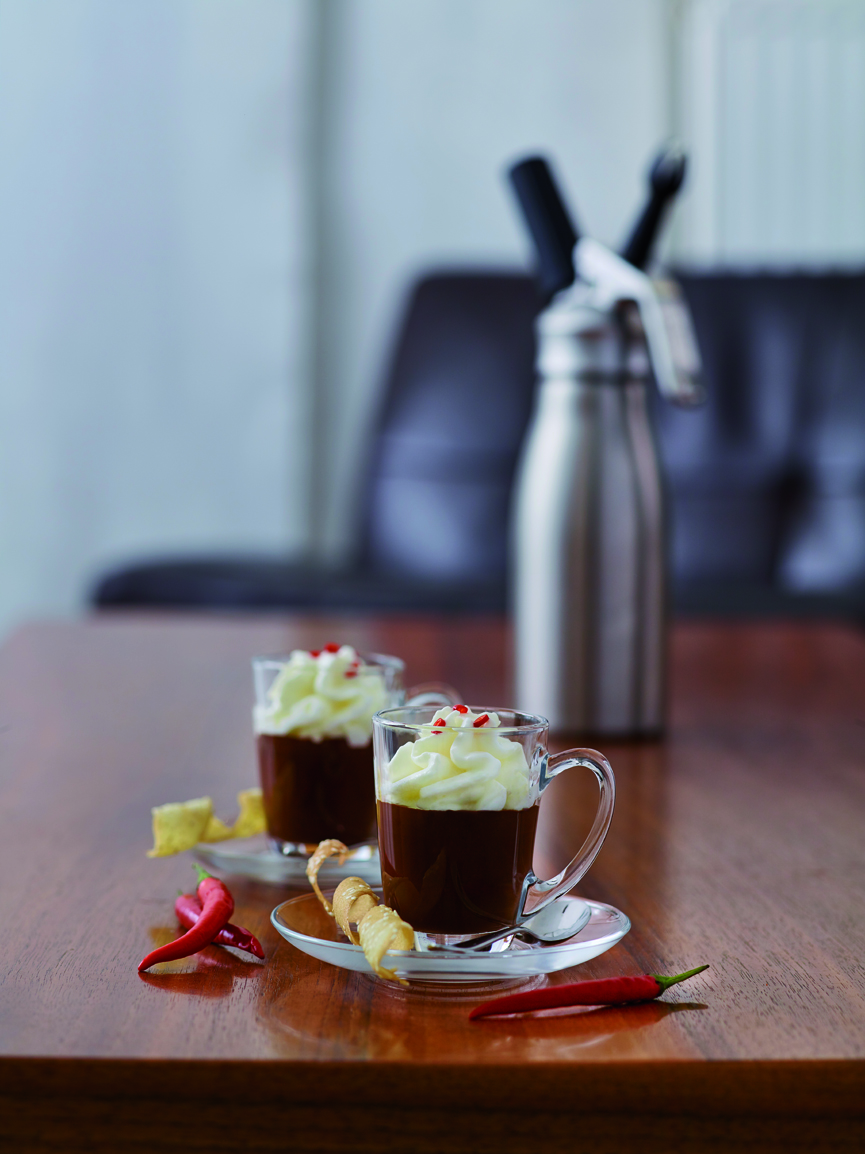 Spicy Chocolate with Coconut Foam